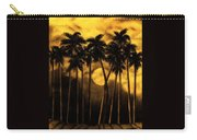 Moonlit Palm Trees In Yellow Carry-all Pouch