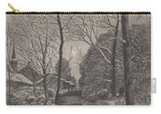 Moonlit Stroll In Winter Carry-all Pouch