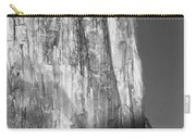 M-m6506-e-bw-moonrise Over El Capitan At Sunset  Carry-all Pouch