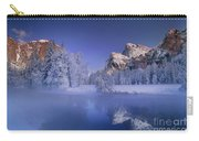 Moonrise Over Gates Of The Valley Yosemite National Park Carry-all Pouch