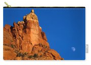 Moonrise Over Red Rock Carry-all Pouch by Mike  Dawson