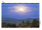 Moonrise Over The Top Of Mount Hood Carry-all Pouch
