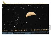 Moonset Over Depot Carry-all Pouch