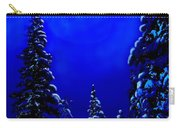 Moonshine On Snowy Pine Carry-all Pouch