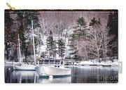 Moored Boats In Maine Winter  Carry-all Pouch