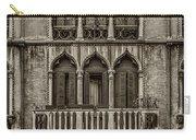 Moorish Style Windows Venice Monotone_dsc1450_02282017 Carry-all Pouch