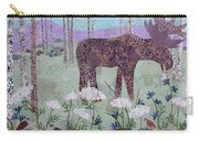 Moose And Three Sparrows Carry-all Pouch