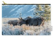Moose In Cold Winter Ice Carry-all Pouch