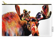 Moose In Orange Carry-all Pouch