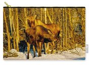 Moose In The Morning Carry-all Pouch