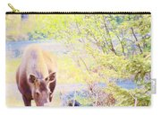 Moose In The Yard Carry-all Pouch
