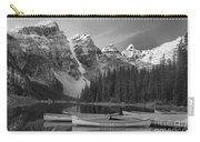Moraine Lake In Black And White Carry-all Pouch