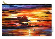 Morning After The Storm - Palette Knife Oil Painting On Canvas By Leonid Afremov Carry-all Pouch
