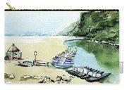 Morning At Porto Novo Beach Carry-all Pouch