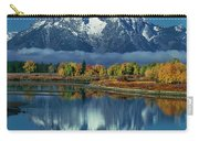 Morning Cloud Layer Oxbow Bend In Fall Grand Tetons National Park Carry-all Pouch by Dave Welling