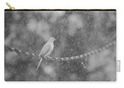 Morning Dove In The Rain Carry-all Pouch