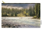 Morning Fog At Athabasca River Carry-all Pouch