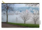 Morning Fog Over City Of Portland Skyline Carry-all Pouch