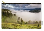 Morning Fog Over Yellowstone Carry-all Pouch