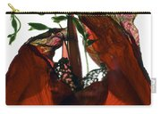 Morning Glory Canna Red Carry-all Pouch