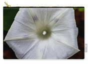 Morning Glory White Carry-all Pouch