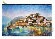 Morning Harbor - Palette Knife Oil Painting On Canvas By Leonid Afremov Carry-all Pouch