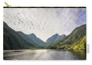 Morning Light Hitting The Docks At Doubtful Sound In New Zealand Carry-all Pouch