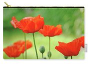 Morning Light Poppies Carry-all Pouch