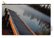 Morning Mist Over Lynx Lake In Northern Saskatchewan Carry-all Pouch