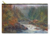 Morning Muse - Original Contemporary Impressionist River Painting Carry-all Pouch