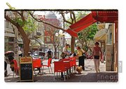 Morning On A Street In Tel Aviv Carry-all Pouch by Zalman Latzkovich