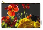 Morning Pansy's  Carry-all Pouch