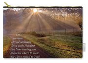 Morning Psalms Scripture Photo Carry-all Pouch