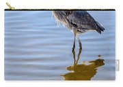 Morning Reflections Of A Great Blue Heron Carry-all Pouch
