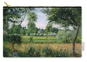 Morning Sunlight Effect At Eragny Carry-all Pouch by Camille Pissarro