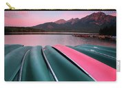 Morning View Of Pyramid Lake In Jasper National Park Carry-all Pouch