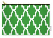 Moroccan Arch With Border In Dublin Green Carry-all Pouch