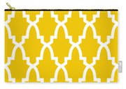 Moroccan Arch With Border In Mustard Carry-all Pouch