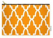 Moroccan Arch With Border In Tangerine Carry-all Pouch