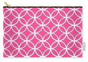 Moroccan Endless Circles I With Border In French Pink Carry-all Pouch