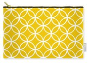 Moroccan Endless Circles I With Border In Mustard Carry-all Pouch