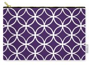 Moroccan Endless Circles I With Border In Purple Carry-all Pouch