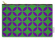 Moroccan Endless Circles II With Border In Dublin Green Carry-all Pouch