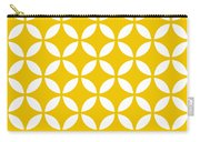Moroccan Endless Circles II With Border In Mustard Carry-all Pouch
