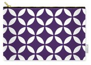 Moroccan Endless Circles II With Border In Purple Carry-all Pouch