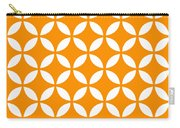 Moroccan Endless Circles II With Border In Tangerine Carry-all Pouch