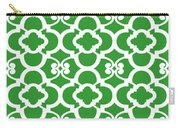 Moroccan Floral Inspired With Border In Dublin Green Carry-all Pouch