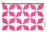 Moroccan Inlay With Border In French Pink Carry-all Pouch