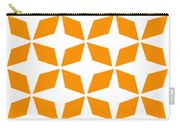 Moroccan Inlay With Border In Tangerine Carry-all Pouch