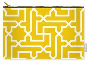 Moroccan Key With Border In Mustard Carry-all Pouch